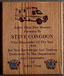 fire department plaque