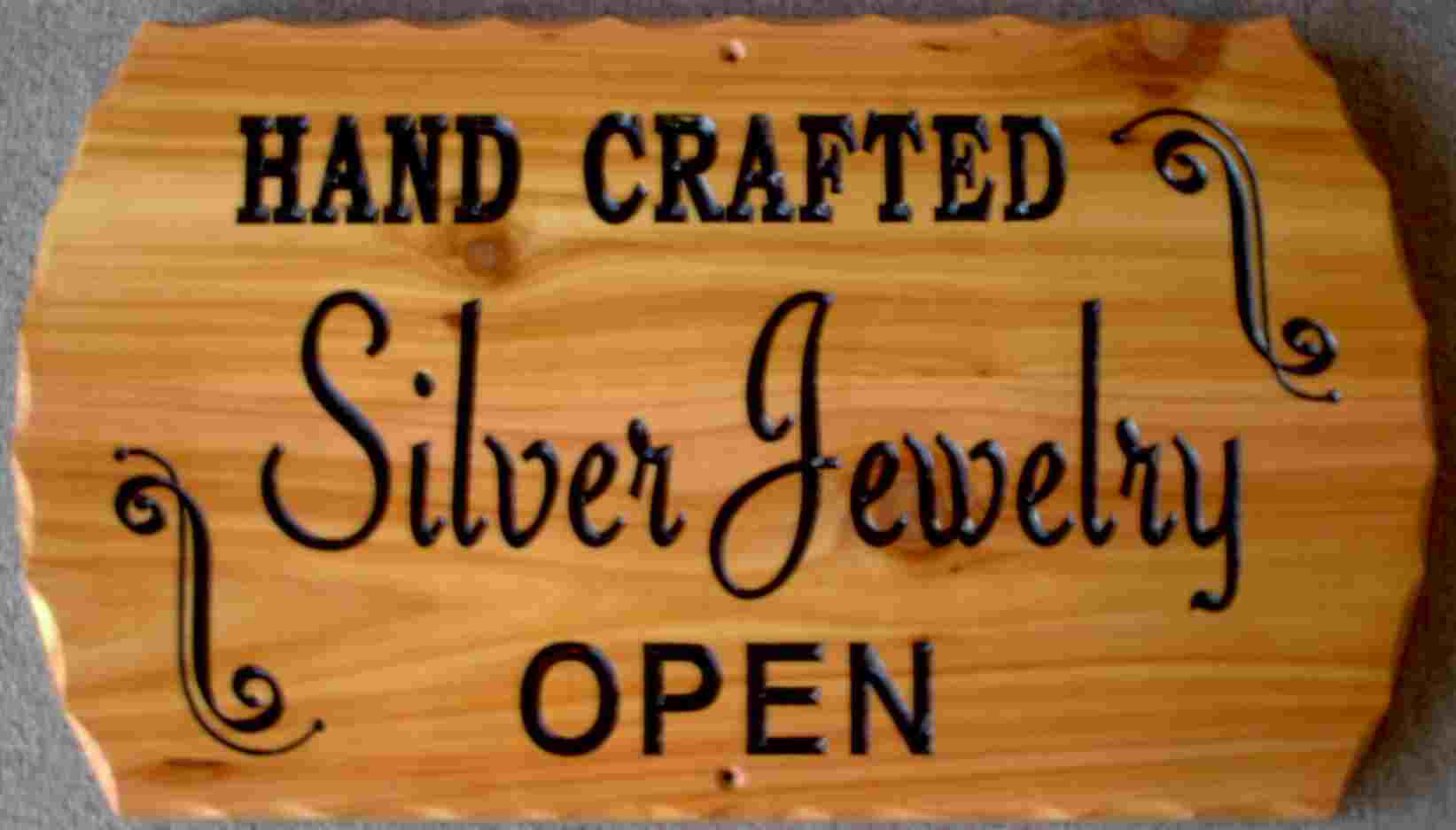 silver sign